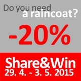 SOFA Dog Wear - Special offer 20% discount for selected raincoats